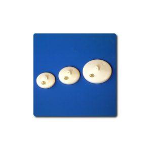 Couvercle porcelaine pour creuset Ø Int.30mm 34mm