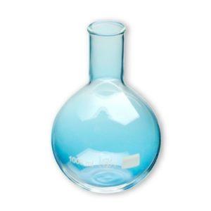 Ballon fond plat col étroit verre borosilicaté 3.3