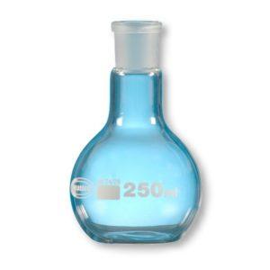 Ballon fond plat col rodé verre borosilicaté 3.3
