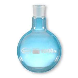 Ballon fond rond col rodé verre borosilicaté 3.3